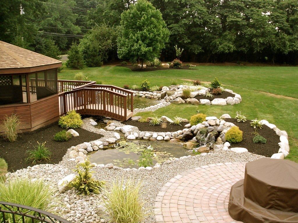 Beautiful Backyard! - FOX LANDSCAPE DESIGNS l Bucks County ... on Backyard Hardscape Design id=82792